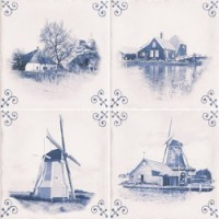 Decor Estil Antic Delft 15*15 MIX