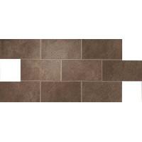 A1E6 Dwell Brown Leather Brick Lappato 21.7x43.6