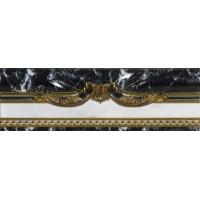 Керамическая плитка  черная под мрамор El Molino TES96605