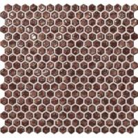 6DHR Dwell Rust Hexagon Gold 30x30