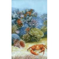 Керамическая плитка для ванной морская волна 341911 Кировская керамика