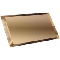ПЗБ1-01  Прямоугольная зеркальная бронзовая с фацетом 10мм 24х12 12x24