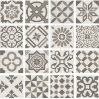 PT01951 ANTIGUA DECOR GRIS 20X20