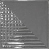 23872 Керамическая плитка для стен EQUIPE FRAGMENTS Graphite 13.2x13.2