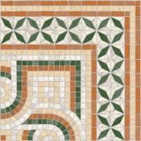 TES113 Cantonera Paxos 43,5x43,5 Verde g.76 43.5x43.5