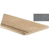 AEX0 Seastone Gray Gradino Round Angolo Sx 30x60 LASTRA 20mm