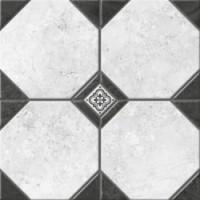Керамогранит  черно-белый Керамин TES19801