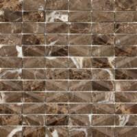 RO03MS436 Mosaico Net Emperador 30x30
