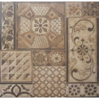 TES3922 MO TAPPETO PATCHWORK MIX BEIGE/BRUNE 59.5x59.5