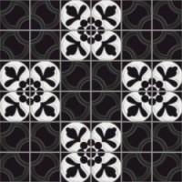 7VFNBMH Deco Dantan Comp.Mosaico 36pz Noir-Blanc 30x30