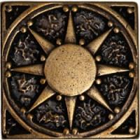 Декоративная латунная Солнце 5x5