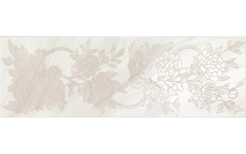 Керамическая плитка INSERTI PEONIA WHITE  25x75 ArtyCer TES105959