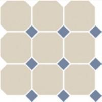4416  OCT11-1Ch White OCTAGON 16/Blue Cobait Dots 11 (лист 9 штук+вставки) 30x30