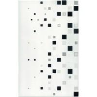 Керамическая плитка  для ванной черно-белая Cerrol TES100111