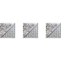 Берген Комплект стеклянных вставок (3xт) серый 4.5x4.5