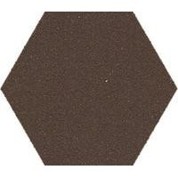 100HEBRU  hex.10 Brown BRU 10x11.5