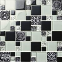 Мозаика  черно-белая MDS-16 Decor Mosaic