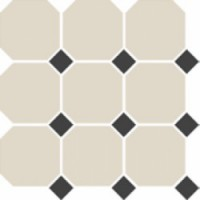 4416OCT14/1C  White/Black 30x30