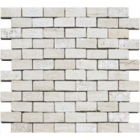 98289  Chamarel Spaccatella Deco White 30x30