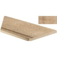 AEXZ Sunrock Bourgogne Sand Gradino Round Angolo Sx 30x60 LASTRA 20mm