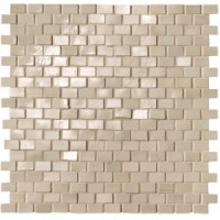 fNWO Brickell Beige Brick Mosaico Gloss 30x30