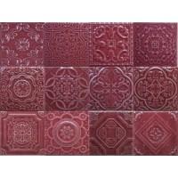 TES108140 Toledo Burgundi mix 15,8x15,8 15.8x15.8