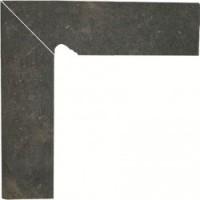 TES81362 Scandiano Brown Цоколь левый структурный 2-х элем. 30х8,1 30x81
