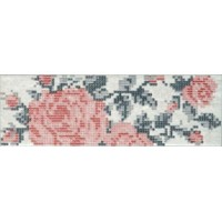 DOCKLANDS INSERTO FLOWERS WHITE S/1 8,6x26