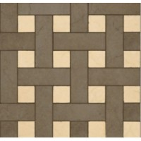 118034  Palace Gold MOSAICO CHESTERFIELD NERO/BEIGE 39,4x39,4 39.4x39.4