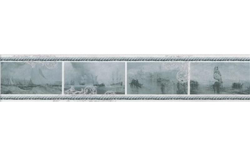 Керамическая плитка STG/B209/15016 Ньюпорт Корабли зеленый 40*7.2 7.2x40 Kerama Marazzi STGB20915016