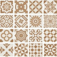 PT01952 ANTIGUA DECOR BEIGE 20X20