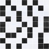 Stripes чёрный+серый 30x30