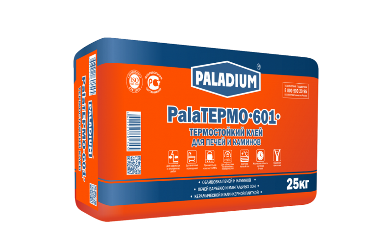 Плиточный клей Paladium PalaTermo-601 термостойкий 25 кг  Paladium 287618