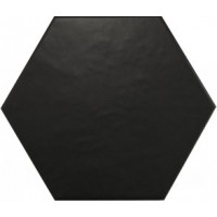 20338 Hexatile Negro Mate 17.5*20