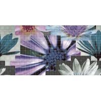 TES94905 Decor mosaico blanco flor-2 25x50