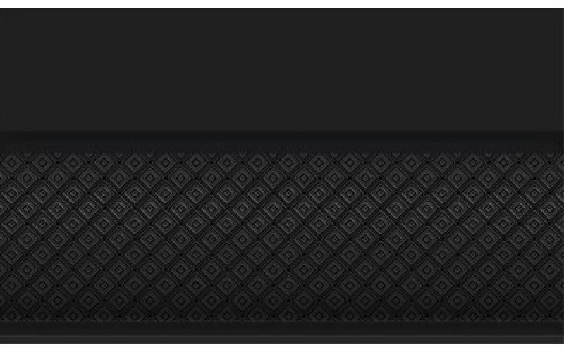 Керамическая плитка Бордюр объемный Катрин черный 15x25 НЕФРИТ-КЕРАМИКА 13-01-1-25-43-04-1451-0