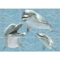 TES102878 Лазурь Дельфины (9xт компл.) 75x140