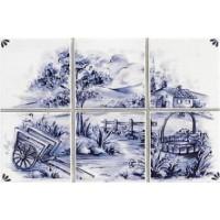 7090 Delft 000 Decoro CP/6 Paesaggio 10*10 10x10