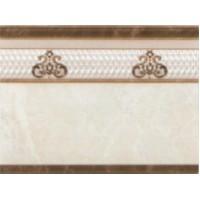 Керамическая плитка  бордюр белая Argenta Ceramica 33667