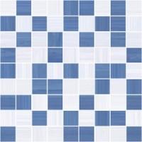 Stripes синий+серый 30x30