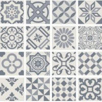 PT01950 ANTIGUA DECOR AZUL 20X20