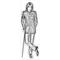 Керамическая плитка  для ванной черно-белая Кировская керамика 370006