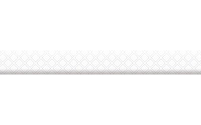 Керамическая плитка Бордюр объемный Катрин белый  3x25 НЕФРИТ-КЕРАМИКА 13-01-1-26-41-00-1451-0