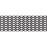 7VFNB2T Deco Dantan Tressage Noir-Blanc 20x60