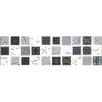 Керамическая плитка  для ванной черно-белая Кировская керамика 271591