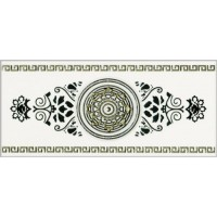 Керамическая плитка  для ванной черно-белая Кировская керамика 282501