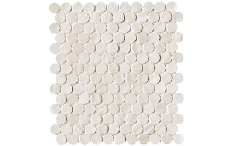 Мозаика Brooklyn Round Snow Mosaico  29.5x32.5 FAP Ceramiche TES76551