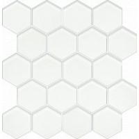 Uniwersalna Mozaika Szklana Heksagon Ivory 25,8x28