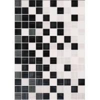 Керамическая плитка  для ванной черно-белая Beryoza Ceramica TES102853