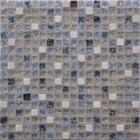 Мозаика для фартука белая GS100B Keramograd